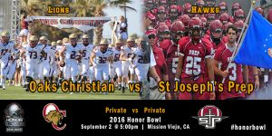 Oaks Christian vs St. Joseph Prep