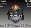 2018 Honor Bowl Game Matchups